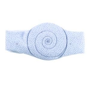 Candide, Pas antykolkowy do masażu, błękitny groszek
