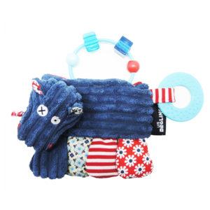 Les Deglingos, Zabawka z grzechotką i gryzakiem, hipopotam
