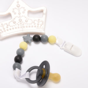 Nibbling, Gryzak silikonowy korona, perłowa