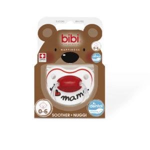 BIBI, Smoczek uspokajający ortodontyczny, I love mama, 0-6m