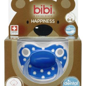 BIBI, Smoczek uspokajający ortodontyczny, Lovely Dots, niebieski 0-6m