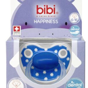 BIBI, Smoczek uspokajający ortodontyczny, Lovely Dots, niebieski 6-16m