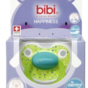 BIBI, Smoczek uspokajający ortodontyczny, Lovely Dots, zielony, 6-16m