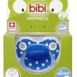 BIBI, Smoczek uspokajający ortodontyczny, Lovely Dots, niebieski 16+m