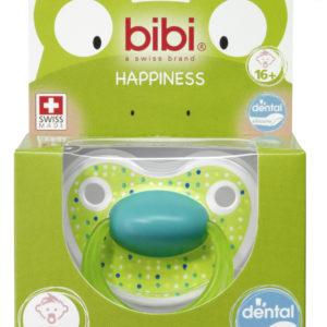 BIBI, Smoczek uspokajający ortodontyczny, Lovely Dots, zielony, 16+m