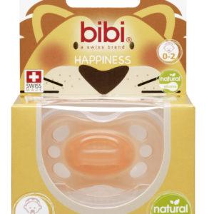 BIBI, Smoczek uspokajający naturalny new born, pomarańczowy