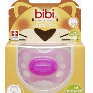 BIBI, Smoczek uspokajający naturalny new born, różowy