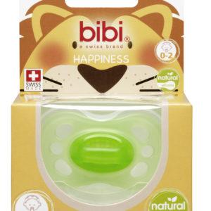 BIBI, Smoczek uspokajający naturalny new born, zielony