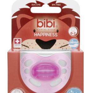 BIBI, Smoczek uspokajający ortodontyczny new born, różowy