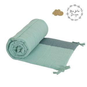 Ochraniacz do łóżeczka 180x40cm Zielony