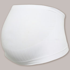 CARRIWELL Pas Ciążowy Bezszwowy Biały rozmiar L