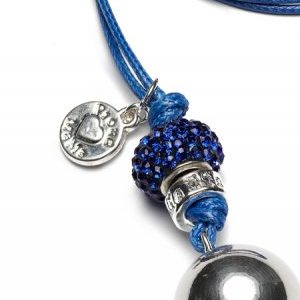Proud MaMa Naszyjnik z Dzwoneczkiem BLING Kulka Cobalt