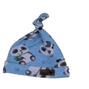 Baby in World Czapka Niemowlęca Smerfetka Niebieska/Pandy 0-3 mc