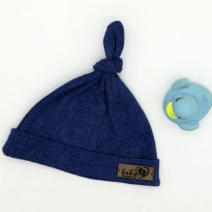 Baby in World Czapka Niemowlęca Smerfetka Jeans