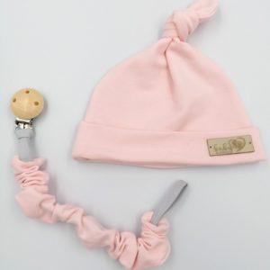 Baby in World Czapka Niemowlęca Smerfetka Baby Pink