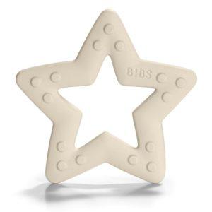 BIBS Baby Bitie  Gryzak dla Niemowlaka STAR IVORY
