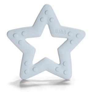 BIBS Baby Bitie  Gryzak dla Niemowlaka STAR BABY BLUE
