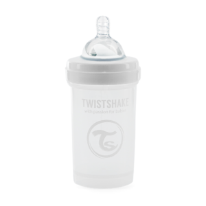 Twistshake Butelka Antykolkowa White 180ml