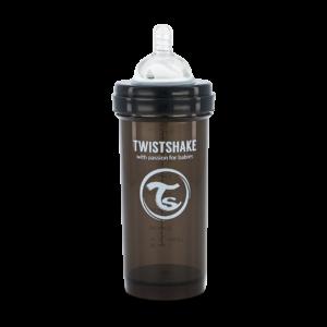 Twistshake Butelka Antykolkowa Black 260ml