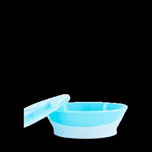 Twistshake Miska z pokrywką Pastel Blue 6+ mc