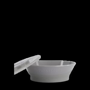 Twistshake Miska z pokrywką Pastel Grey 6+ mc