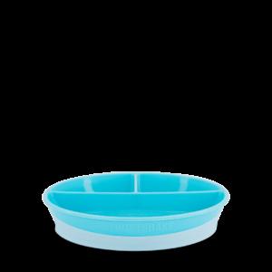 Twistshake Talerz z podziałką i pokrywką Pastel Blue 6+ mc