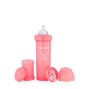 Twistshake Butelka Antykolkowa Pastel Pink 330ml