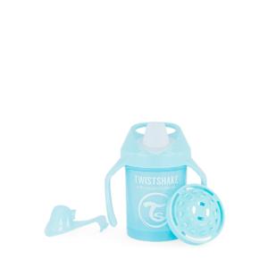 Twistshake, kubek niekapek, z uchwytami i mikserem Mini Cup Pastel Blue 230 ml