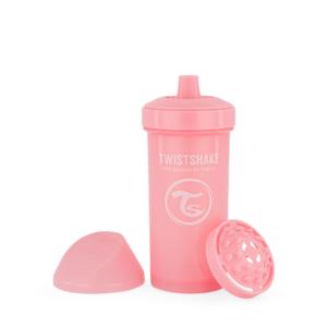 Twistshake, kubek niekapek, z mikserem Kid Cup Pastel Pink 360 ml