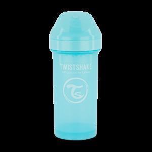 Twistshake, kubek niekapek, z mikserem Kid Cup Pastel Blue 360 ml