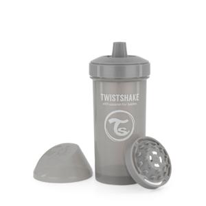 Twistshake, kubek niekapek, z mikserem Kid Cup Pastel Grey 360 ml