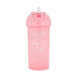Twistshake, Bidon ze słomką Straw Cup Pastel Pink 360 ml