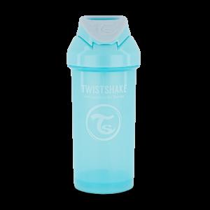 Twistshake, Bidon ze słomką Straw Cup Pastel Blue 360 ml