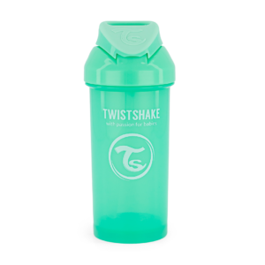 Twistshake, Bidon ze słomką Straw Cup Pastel Green 360 ml