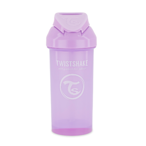 Twistshake, Bidon ze słomką Straw Cup Pastel Purple 360 ml
