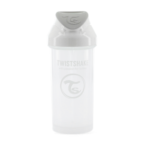 Twistshake, Bidon ze słomką Straw Cup White 360 ml