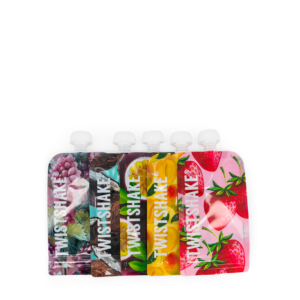 Twistshake Wielorazowe saszetki na jedzenie MIX 5szt 220ml