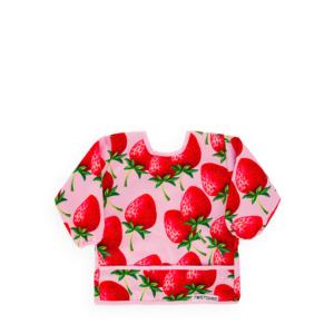 Twistshake Miękki Śliniak z rękawami Strawberry