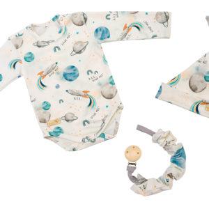 Baby in World Body Niemowlęce Długi rękaw Kosmos Ecru 56/62