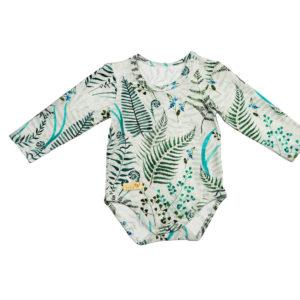 Baby in World Body Niemowlęce Długi rękaw Paprocie 56/62